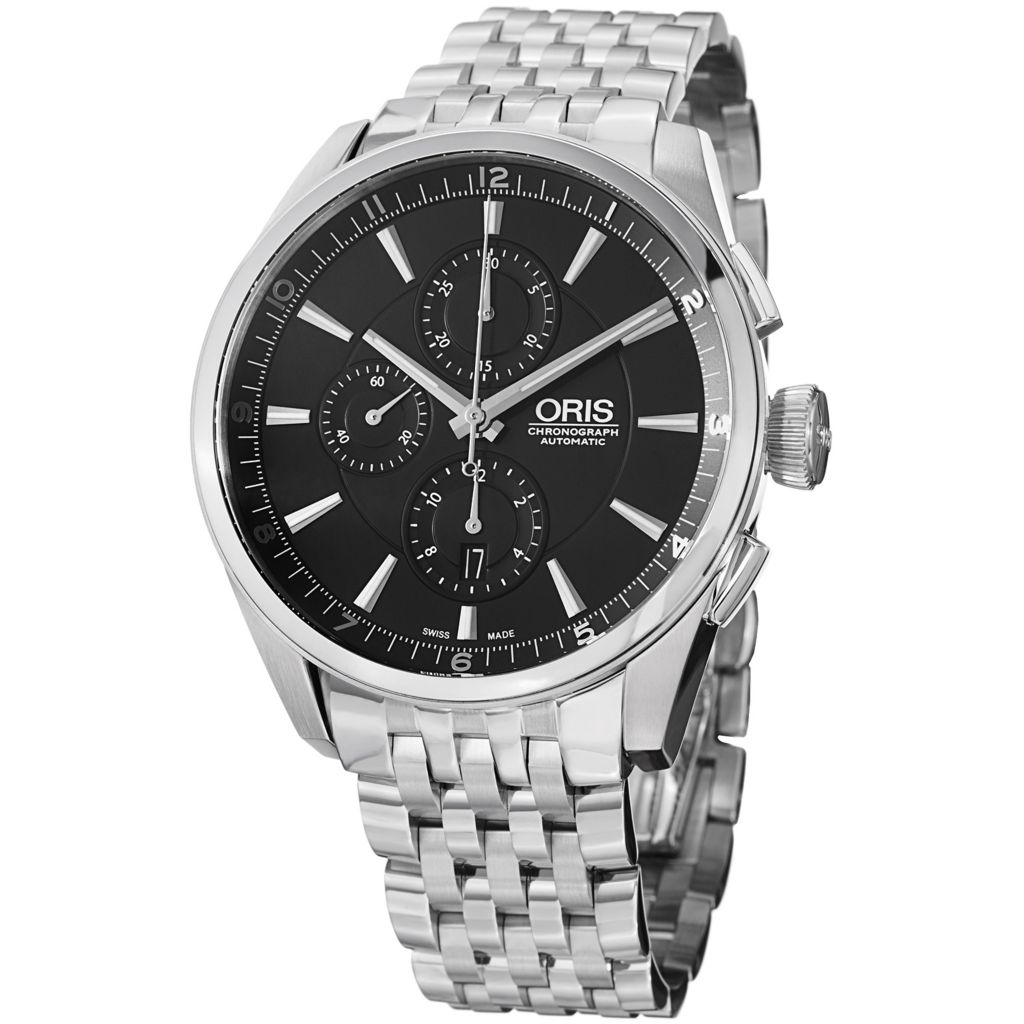 628-409 - Oris 44mm Artix Swiss Made Automatic Chronograph Stainless Steel Bracelet Watch