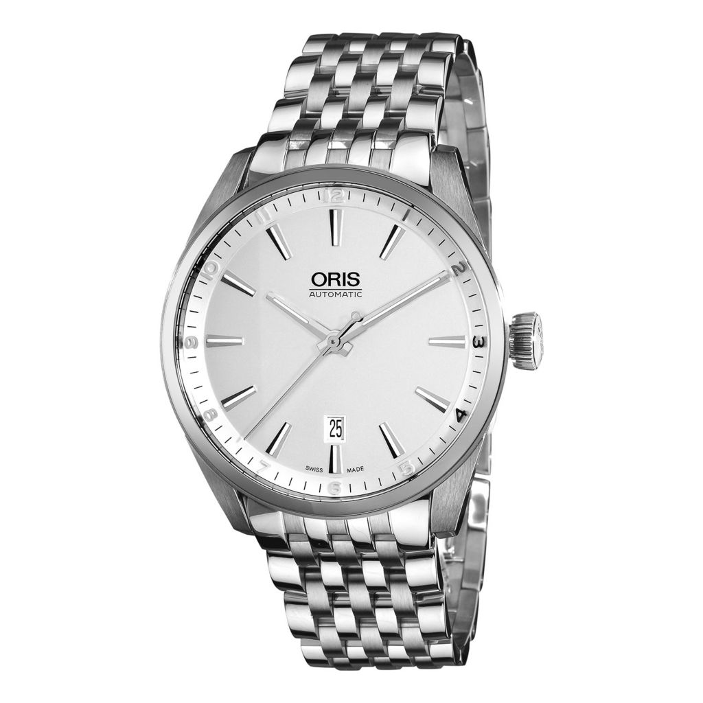 628-411 - Oris 42mm Artix Swiss Made Automatic Date Stainless Steel Bracelet Watch