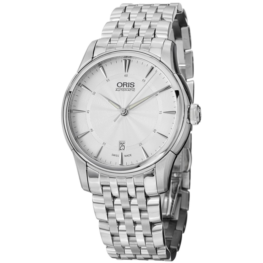 628-416 - Oris 40mm Artelier Swiss Made Automatic Stainless Steel Bracelet Watch