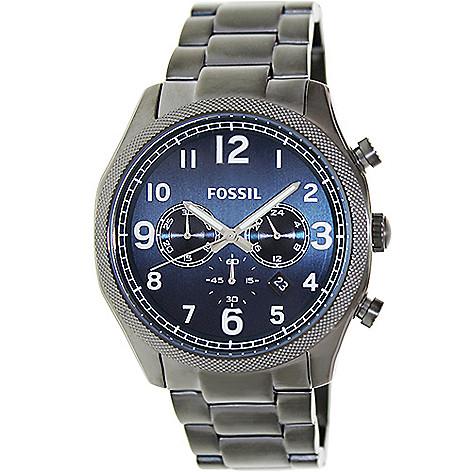 628-430 - Fossil 45mm Foreman Quartz Chronograph Stainless Steel Bracelet Watch