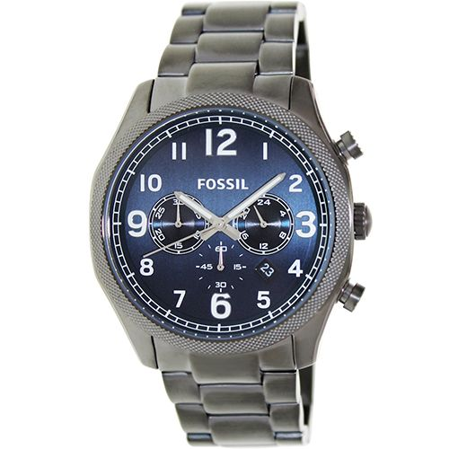 628-430 - Fossil 45mm Foreman Quartz Chronograph Stainless Steel Bracelet Watch