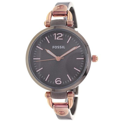628-432 - Fossil Women's Georgia Quartz Stainless Steel Bangle Bracelet Watch