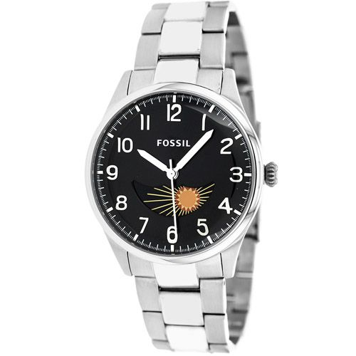 628-436 - Fossil 38mm Agent Quartz Moon Phase Stainless Steel Bracelet Watch