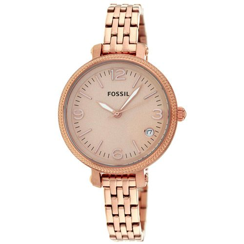 628-438 - Fossil Women's Heather Quartz Date Stainless Steel Bracelet Watch