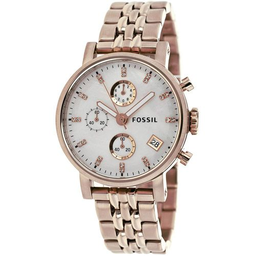 628-439 - Fossil Women's Boyfriend Quartz Chronograph Stainless Steel Bracelet Watch