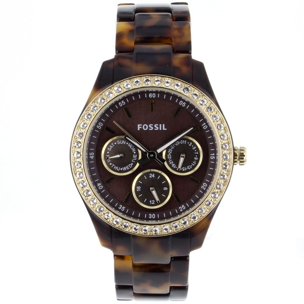 628-442 - Fossil Women's Stella Classic Quartz Multi Function Resin Bracelet Watch