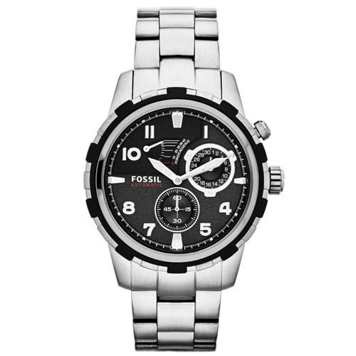 628-445 - Fossil 45mm Dean Automatic Multi Function Stainless Steel Bracelet Watch