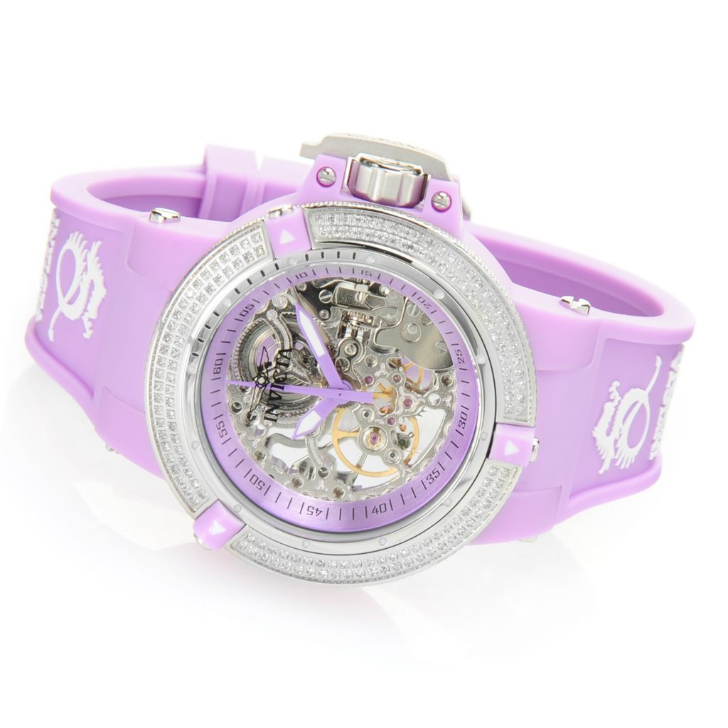 628-454 - Invicta Women's Subaqua Noma III Mechanical 0.68ctw Diamond Silicone Strap Watch