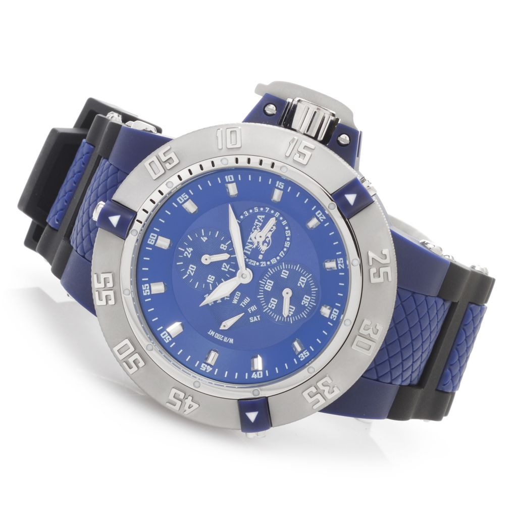 628-456 - Invicta 50mm Subaqua Noma III Anatomic Quartz Multi Function Polyurethane Strap Watch