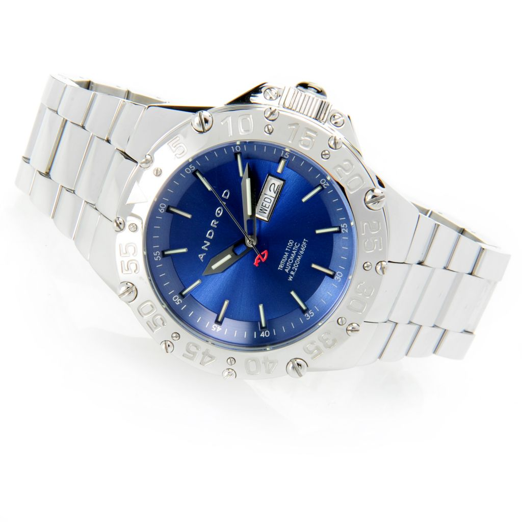 628-468 - Android 51mm Enforcer T-100 Automatic Stainless Steel Bracelet Watch