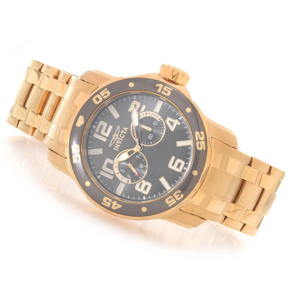 628-469 - Invicta 48mm Pro Diver Scuba Quartz Stainless Steel Bracelet Watch w/ One-Slot Dive Case