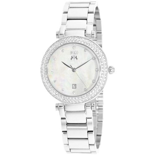 628-479 - Jivago Women's Parure Quartz Mother-of-Pearl Crystal Accented Stainless Steel Bracelet Watch