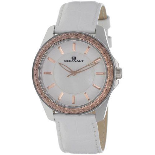 628-480 - Oceanaut Women's Angel Quartz Mother-of-Pearl Dial Leather Strap Watch