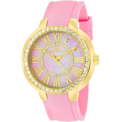 628-481 - Oceanaut Women's Glitter Swiss Quartz Mother-of-Pearl Crystal Accented Rubber Strap Watch