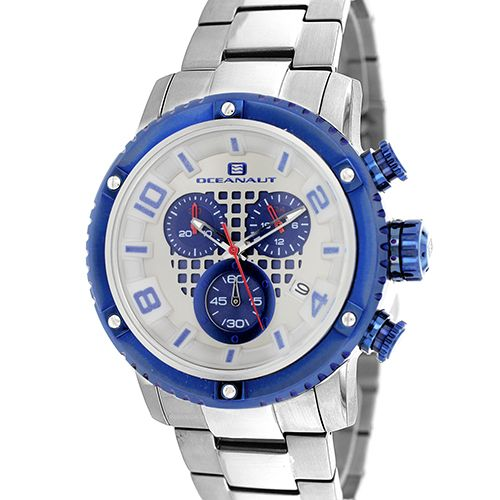 628-483 - Oceanaut 45mm Impulse Chronograph Stainless Steel Bracelet Watch