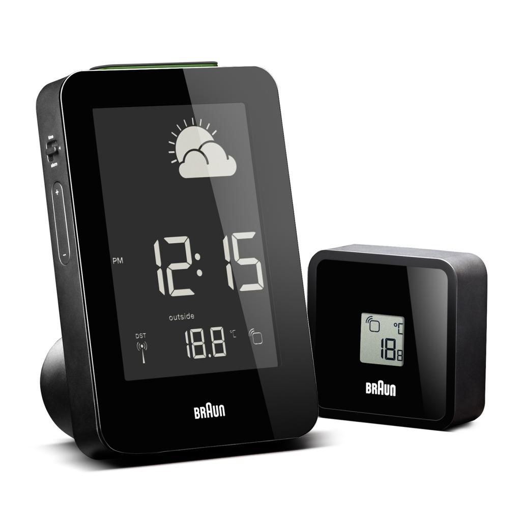 628-492 - Braun Radio Controlled Weather Station LCD Alarm Clock