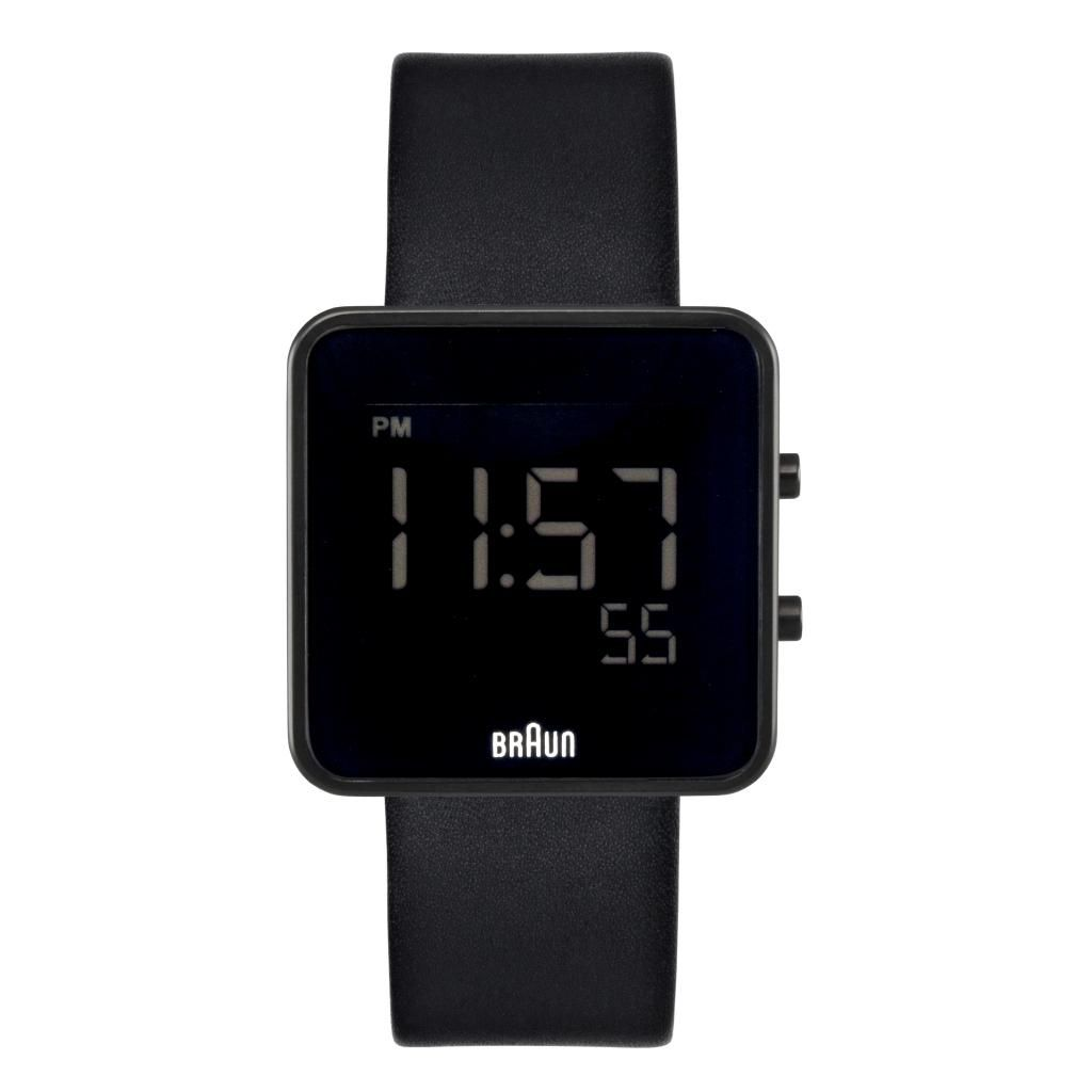 628-501 - Braun Women's Digital Leather Strap Watch