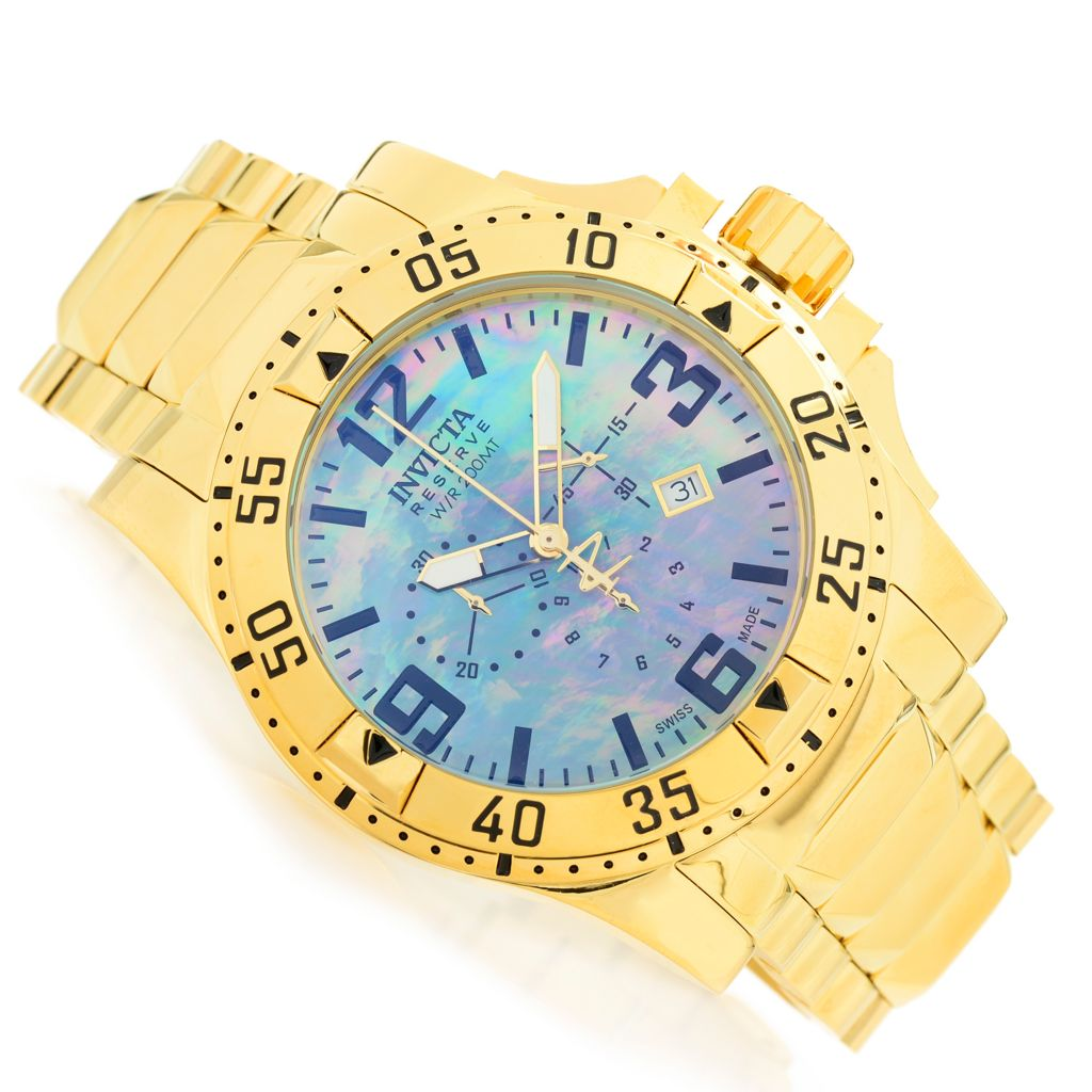 628-509 - Invicta Reserve 50mm Excursion Swiss Quartz Chronograph Stainless Steel Bracelet Watch
