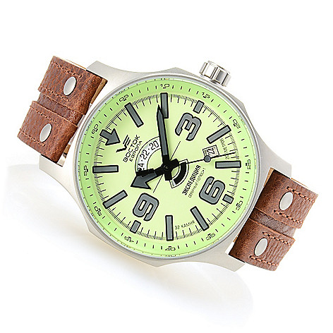 628-522 - Vostok-Europe 48mm Expedition North Pole 1 Automatic Full Lume Dial Strap Watch