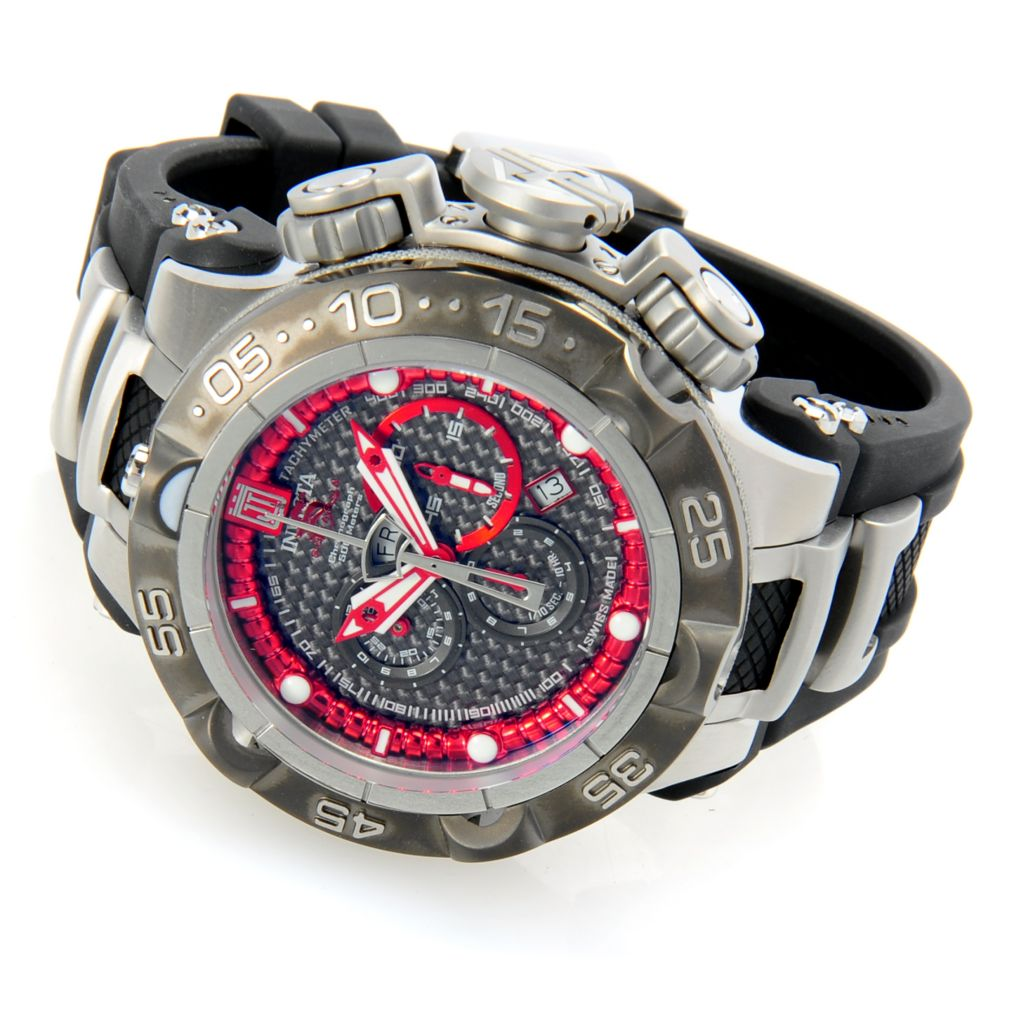 628-534 - Invicta 50mm Jason Taylor Subaqua Noma V Polyurethane Strap Watch w/ Three-Slot Dive Case