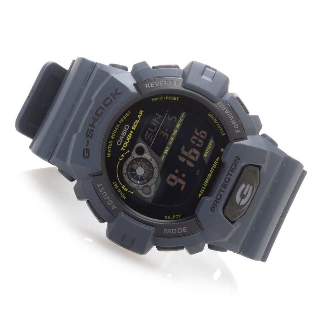 628-590 - Casio 49mm G-Shock Tough Solar Quartz Digital Rubber Case & Strap Watch
