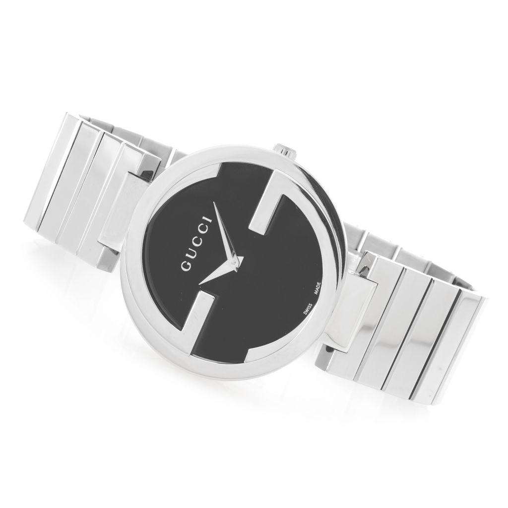 628-592 - Gucci Women's Interlocking G Swiss Made Quartz Stainless Steel Bracelet Watch