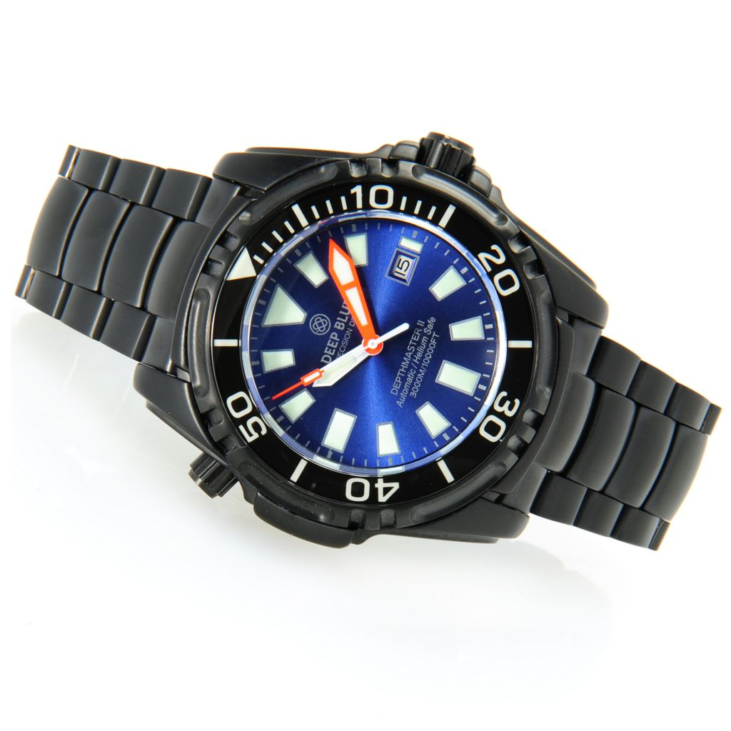 628-596 - Deep Blue 49mm Depthmaster II 3000M Automatic Stainless Steel Bracelet Watch