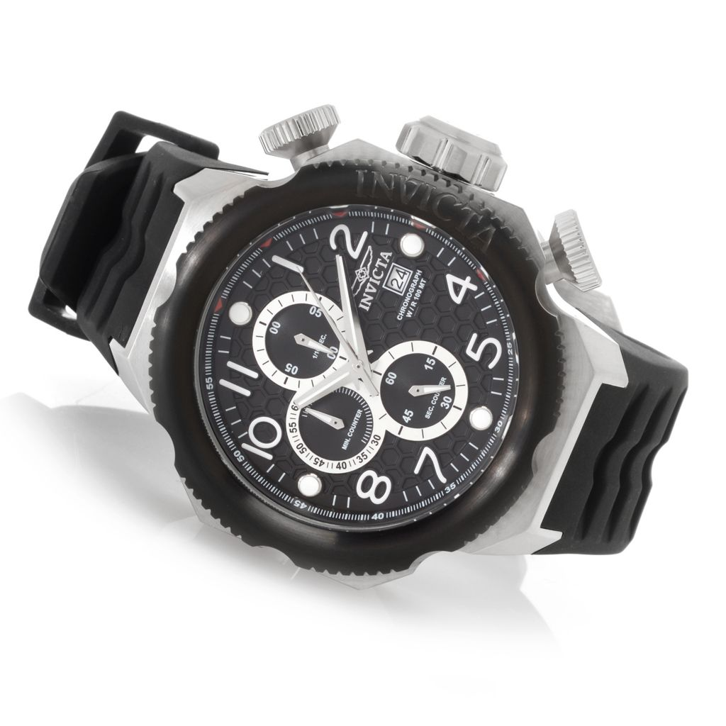 628-600 - Invicta 50mm I Force Quartz Chronograph Stainless Steel Silicone Strap Watch