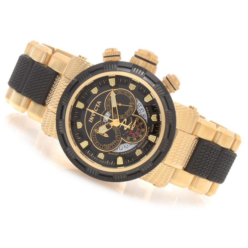 628-601 - Invicta Reserve 48mm Capsule Swiss Made Quartz Chronograph Bracelet Watch