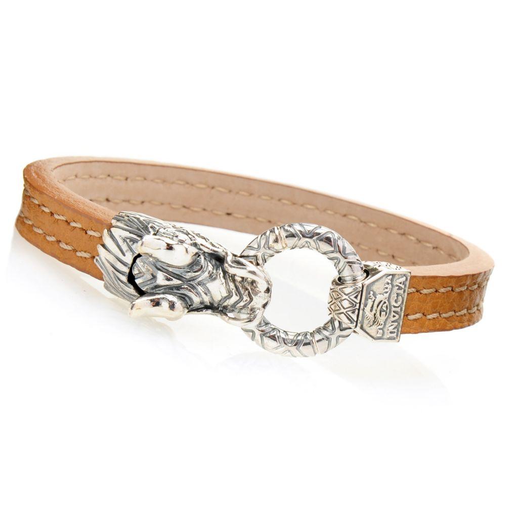 invicta s 8 5 quot italian made leather subaqua bracelet