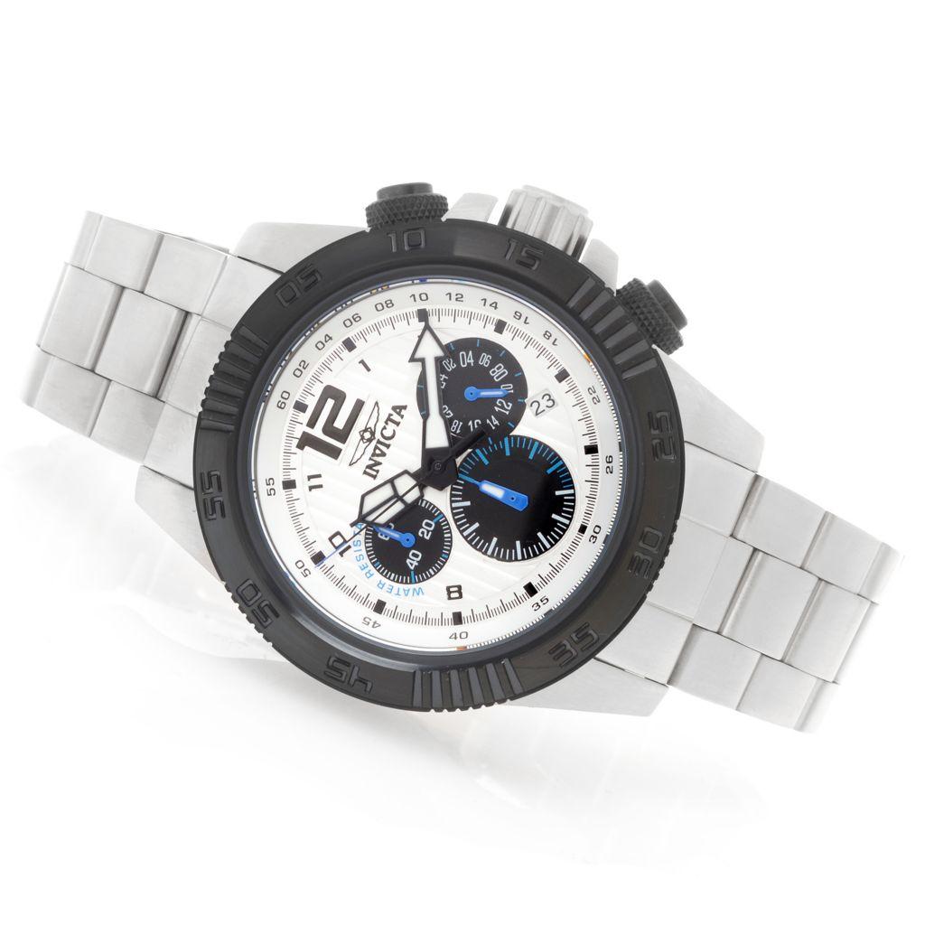 628-620 - Invicta 46mm Speedway Quartz Chronograph Stainless Steel Bracelet Watch