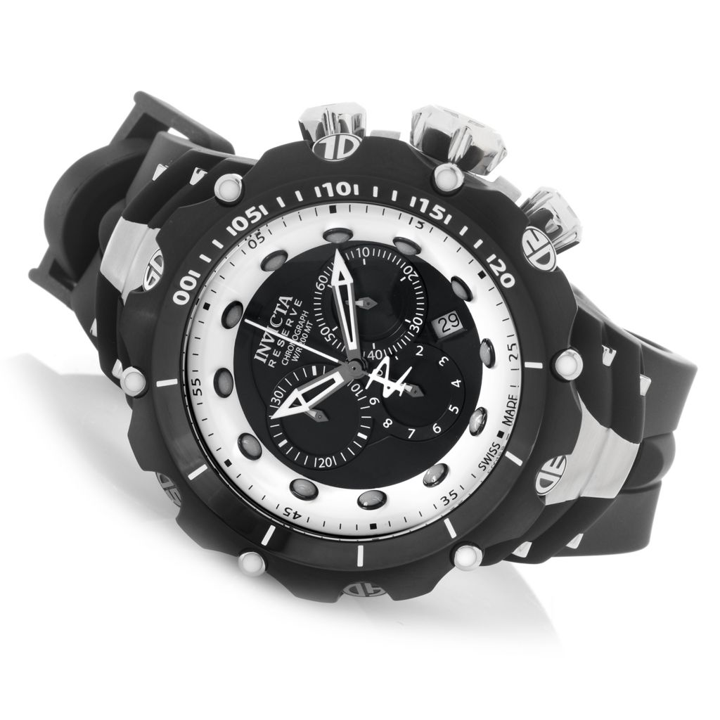 628-625 - Invicta Reserve 52mm Venom Gen. II Swiss Chronograph Rubber Strap Watch w/ One-Slot Dive Case