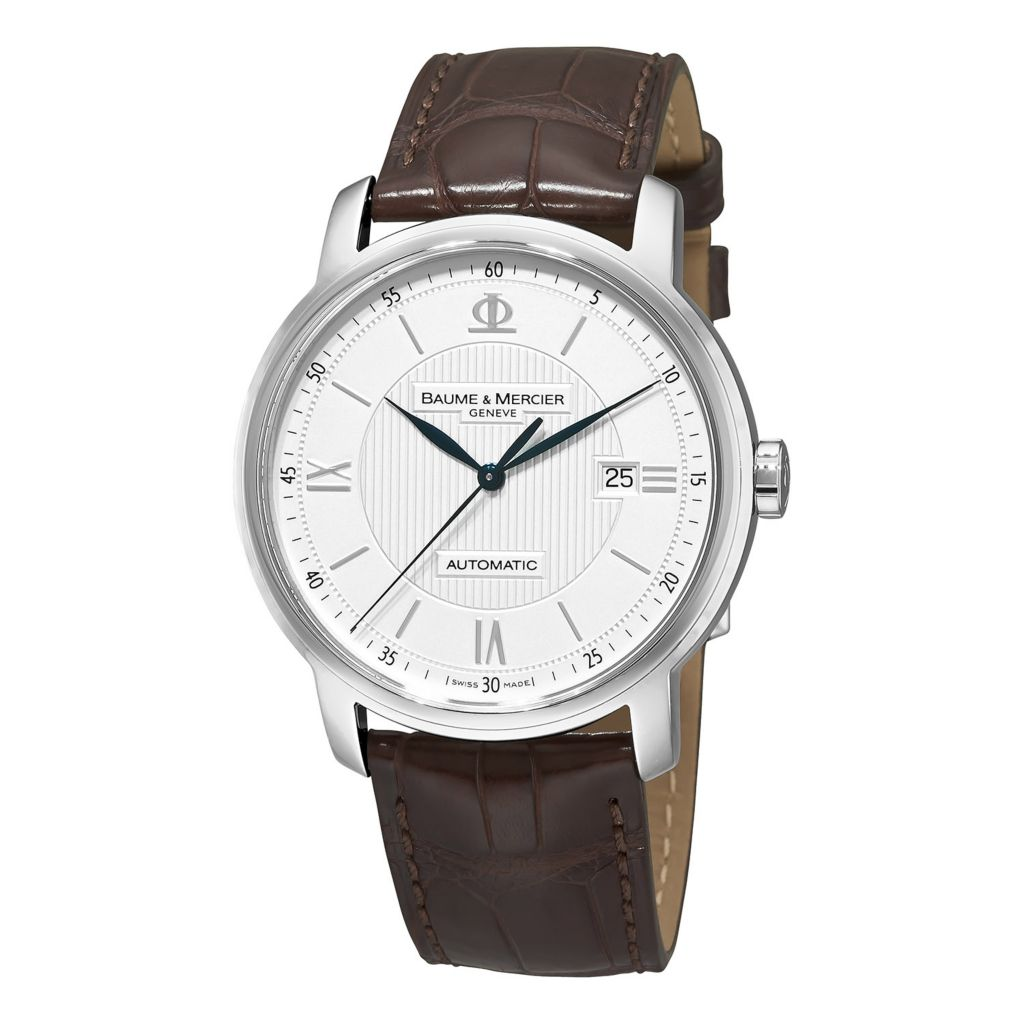 628-636 - Baume & Mercier 42mm Classima Swiss Made Automatic Leather Strap Watch