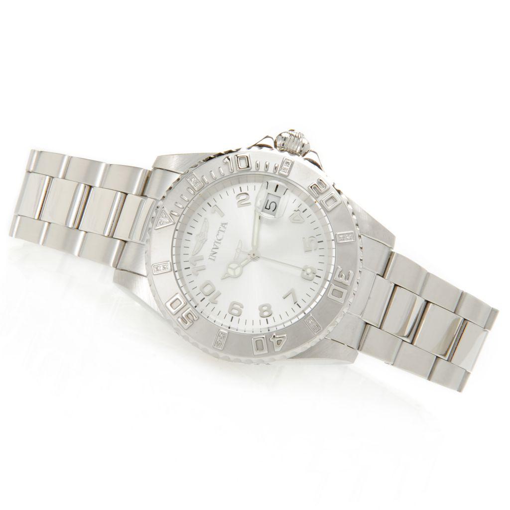 628-652 - Invicta Women's Pro Diver Quartz Diamond Accented Stainless Steel Bracelet Watch