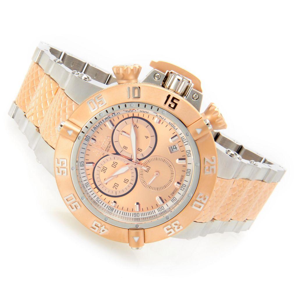 628-661 - Invicta 50mm Subaqua Noma III Swiss Made Quartz Chronograph Stainless Steel Bracelet Watch