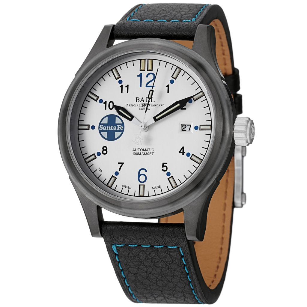 628-674 - Ball 43.5mm Fireman Santa Fe Swiss Made Automatic Limited Edition Leather Strap Watch