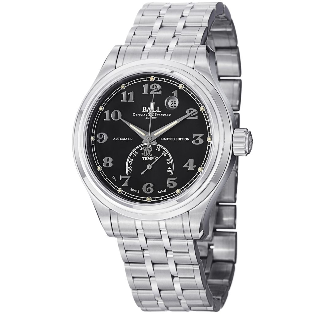 628-678 - Ball 41mm Trainmaster Celsius Swiss Made Automatic Stainless Steel Bracelet Watch