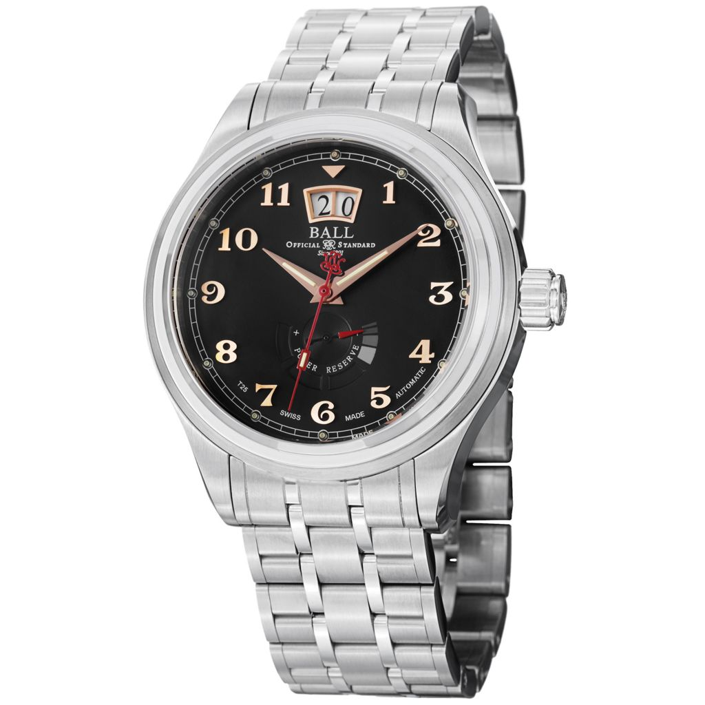 628-680 - Ball 43mm Trainmaster Cleveland Swiss Made Automatic Stainless Steel Bracelet Watch