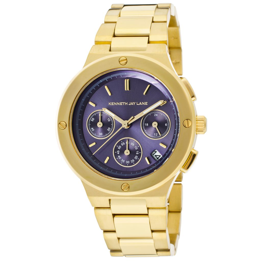 628-685 - Kenneth Jay Lane Women's Quartz Chronograph Stainless Steel Bracelet Watch