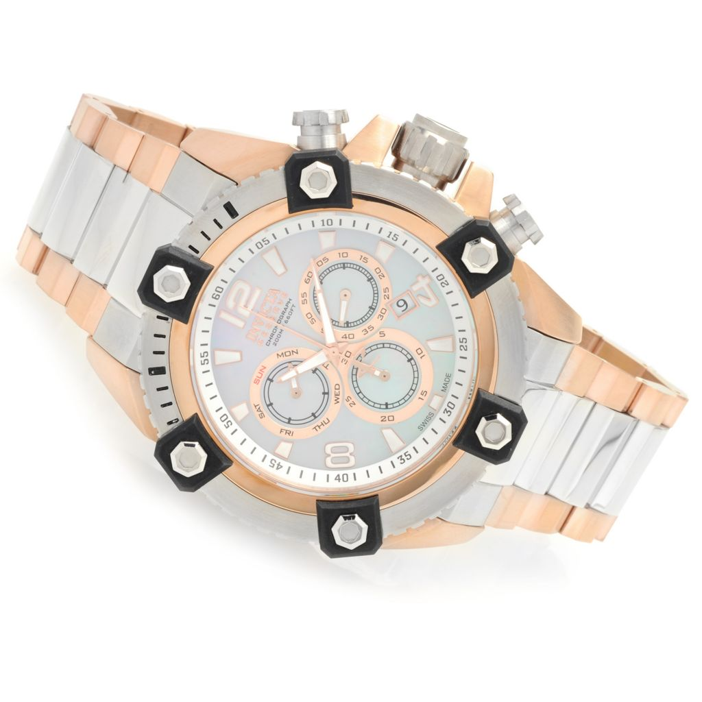 628-695 - Invicta Reserve 56mm Swiss Made Quartz Chronograph Stainless Steel Bracelet Watch