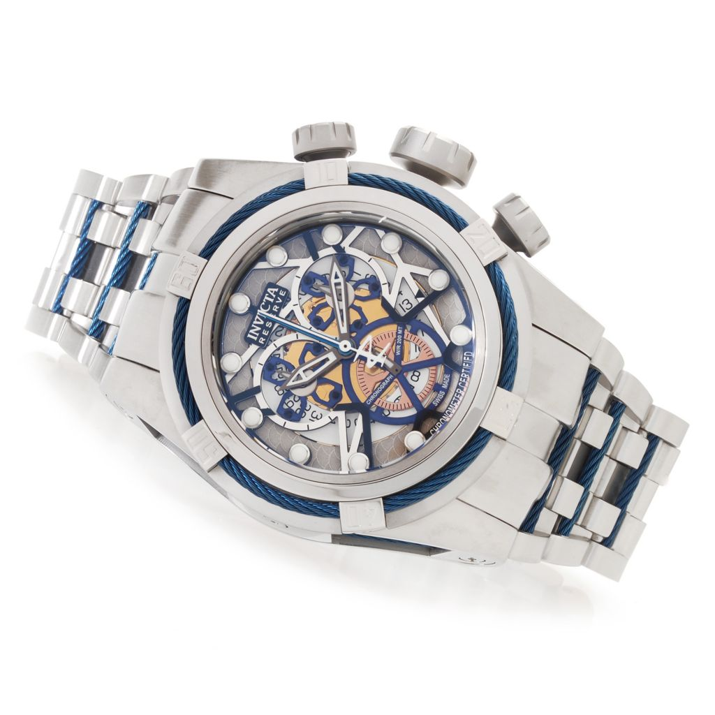 628-714 - Invicta Reserve 52mm Bolt Zeus Swiss Made COSC Stainless Steel Bracelet Watch w/ One-Slot Dive Case