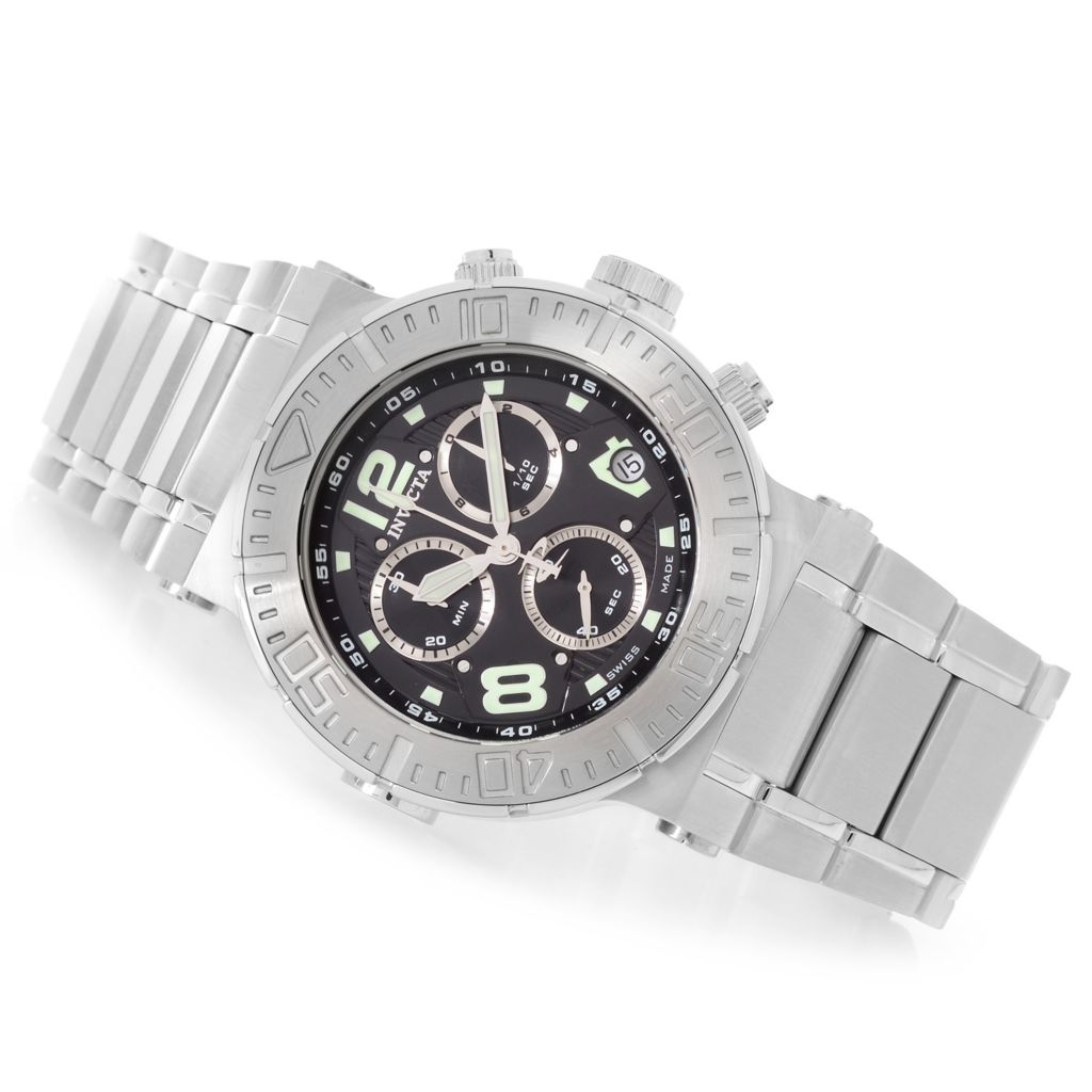 628-720 - Invicta Reserve 46mm Ocean Reef Swiss Made Quartz Chronograph Stainless Steel Bracelet Watch