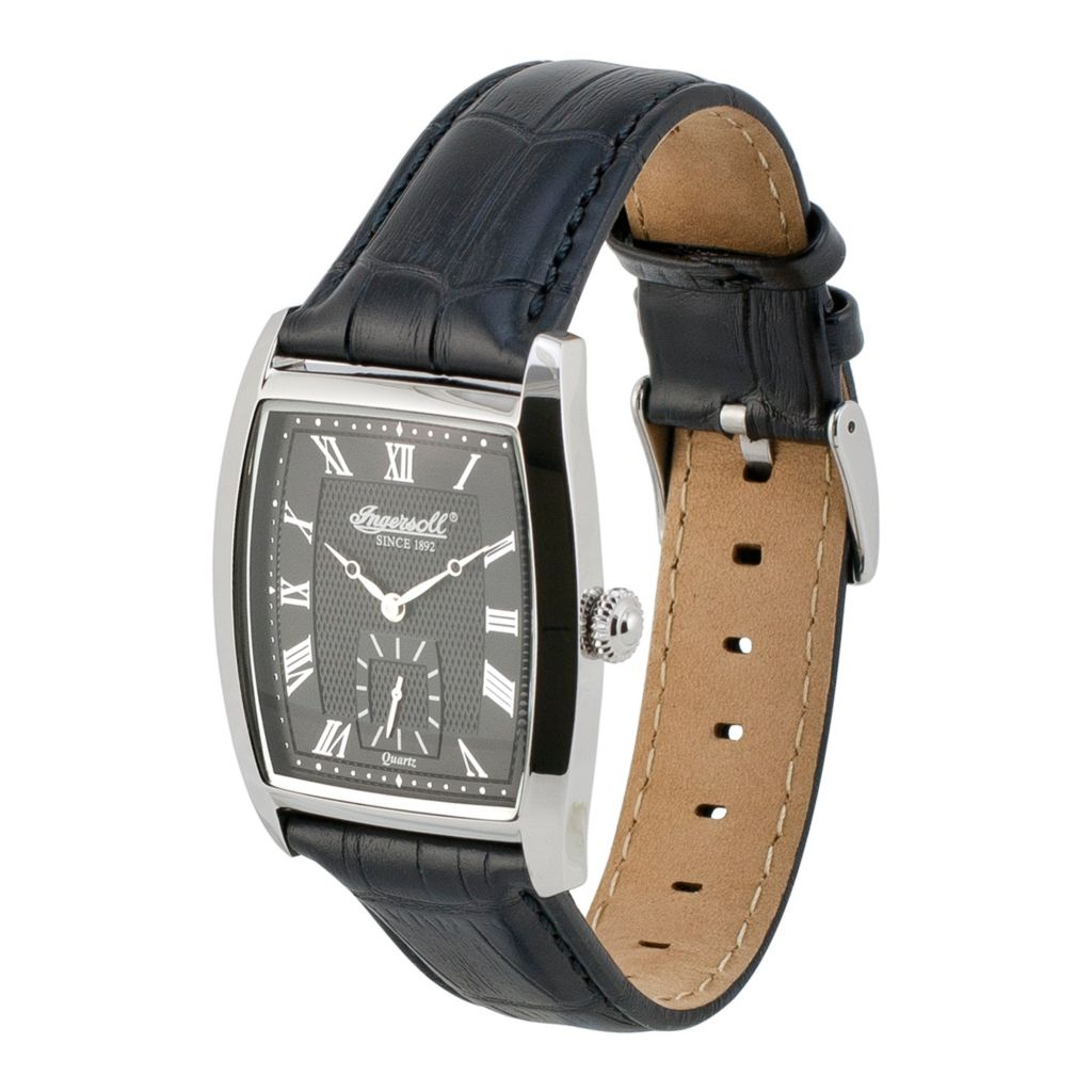 628-724 - Ingersoll 48mm Warwick Quartz Leather Strap Watch