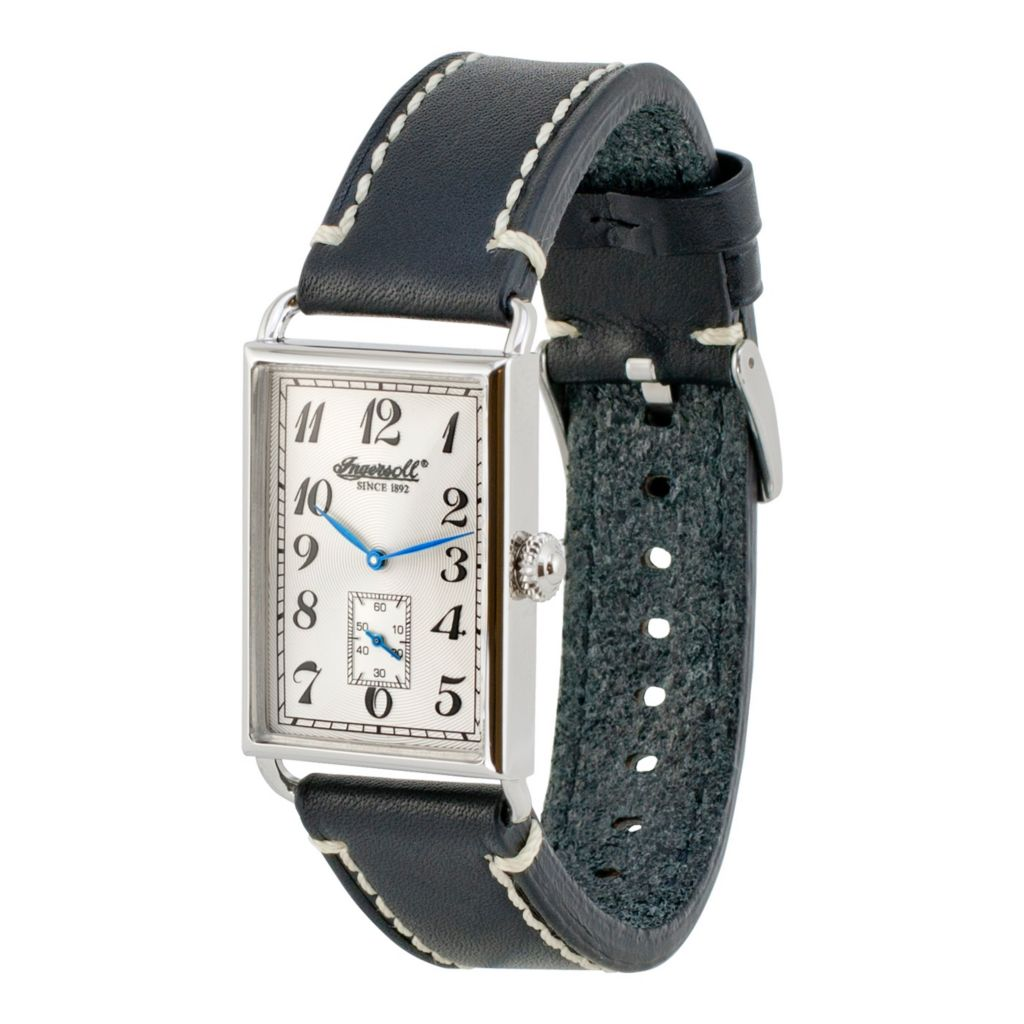 628-726 - Ingersoll 49mm Salisbury Quartz Leather Strap Watch