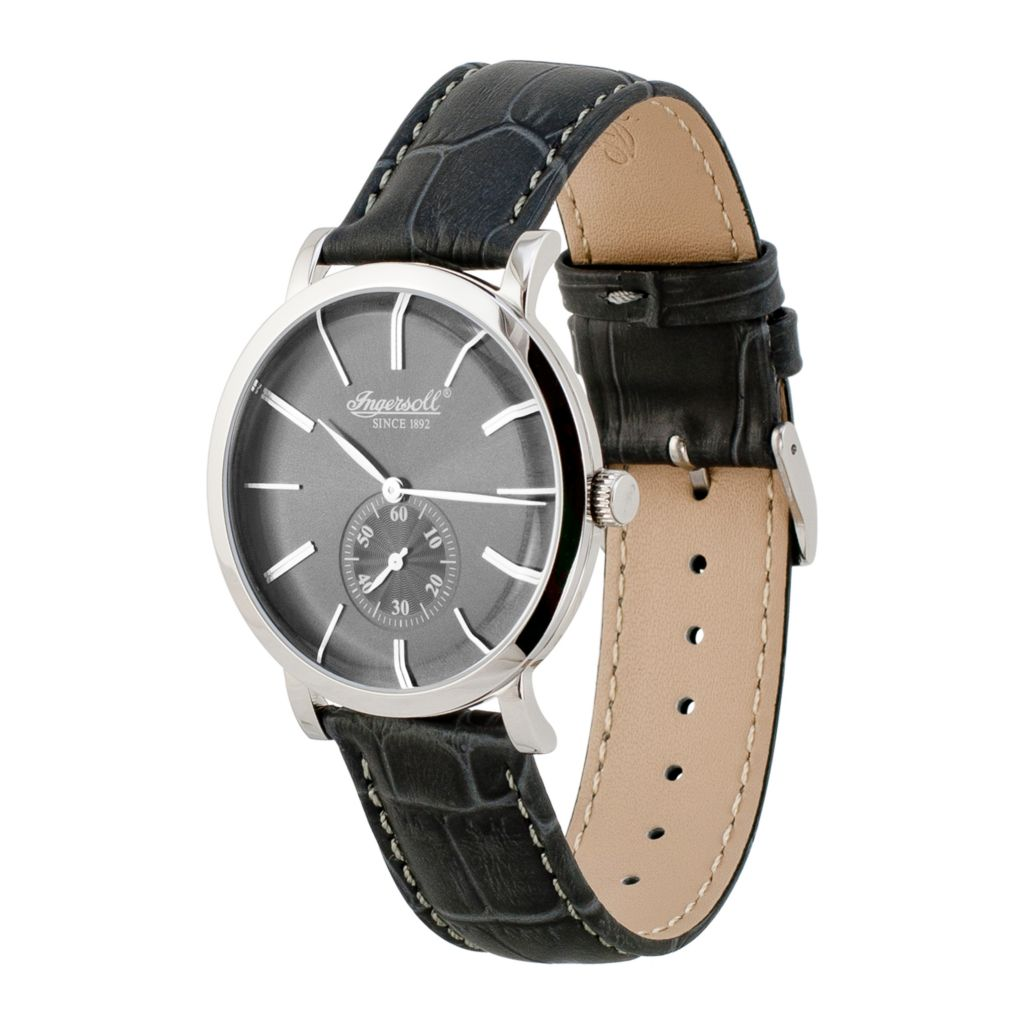 628-730 - Ingersoll 40mm Springfield Swiss Quartz Leather Strap Watch