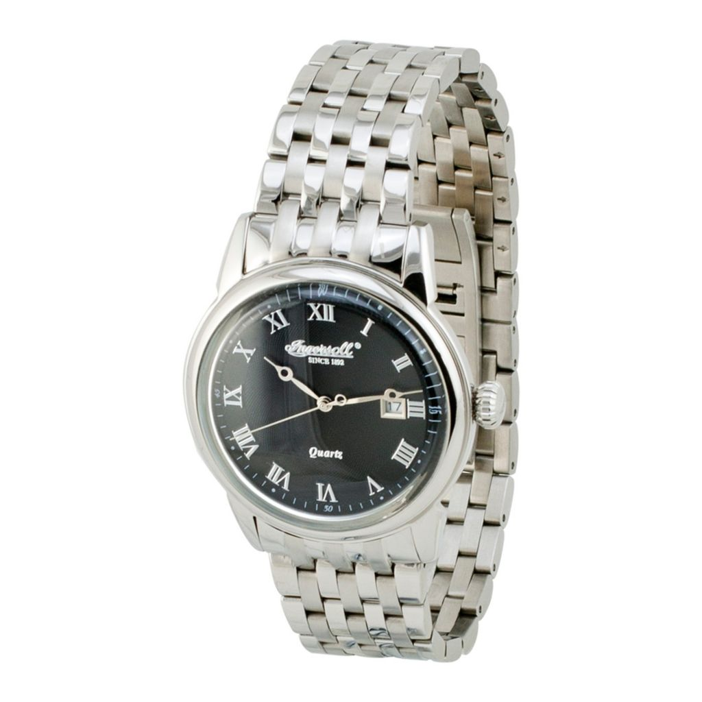 628-745 - Ingersoll 40mm Grafton Quartz Date Stainless Steel Bracelet Watch