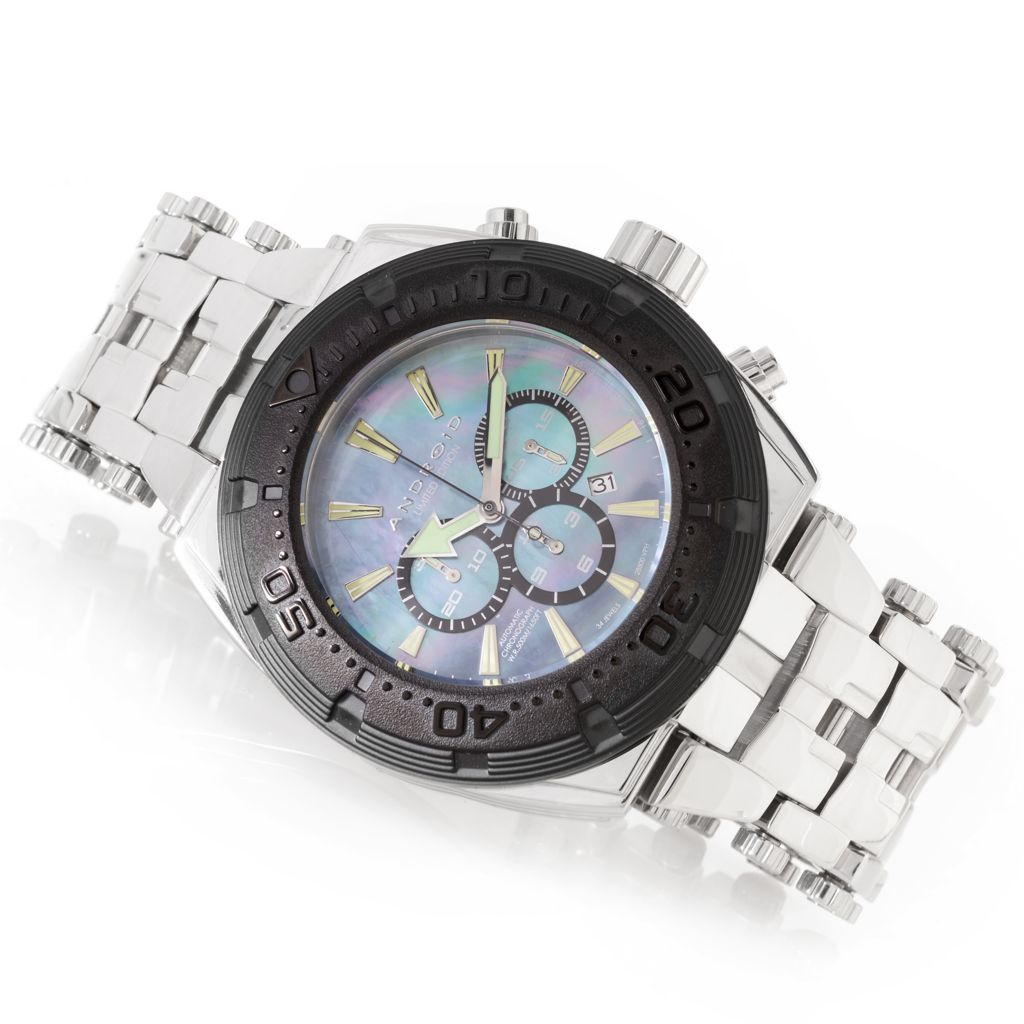 628-763 - Android Tonneau Millipede Limited Edition Automatic Chronograph Stainless Steel Bracelet Watch