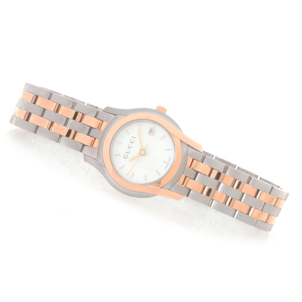 628-781 - Gucci Women's 5505 G Class Swiss Made Quartz Mother-of-Pearl Bracelet Watch