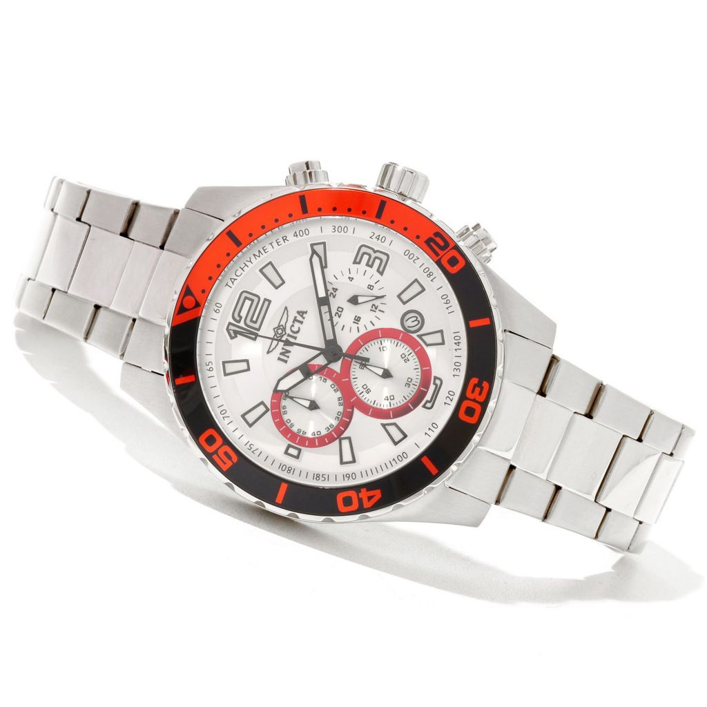 628-802 - Invicta 45mm Pro Diver Sport Quartz Chronograph Stainless Steel Bracelet Watch