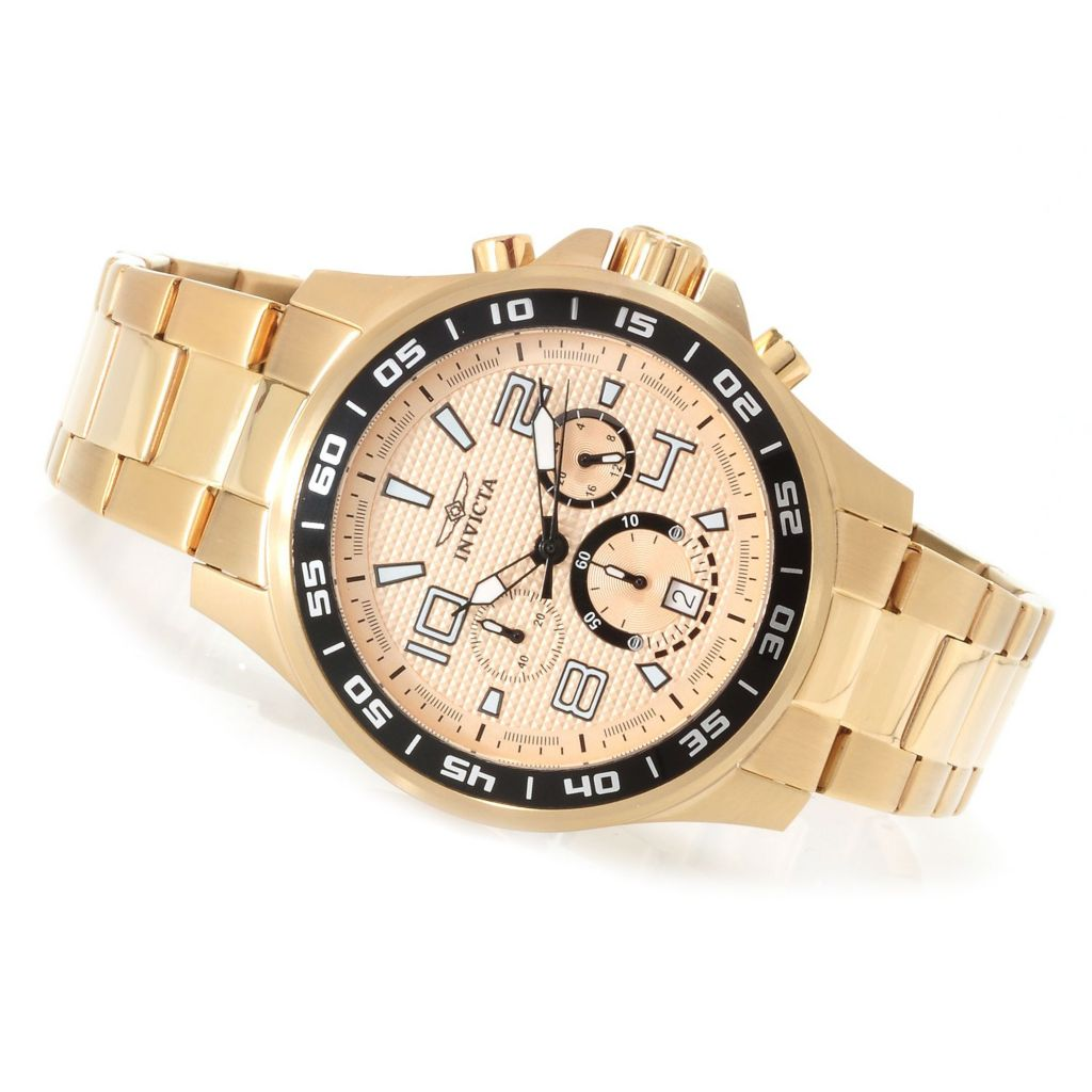 628-807 - Invicta 45mm Specialty Quartz Chronograph Stainless Steel Bracelet Watch